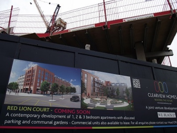The Red Lion Court development, Greenford Road, London Borough of Ealing (photo Albertina McNeill 2014)