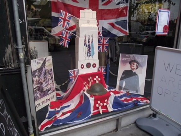 Dementia Concern Remembrance Day window display, Greenford, London Borough of Ealing (photo Albertina McNeill)