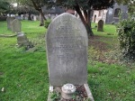 Grave of Blackwell family, Holy Cross Cross churchyard, Greenford, London Borough of Ealing (photo Albertina McNeill)