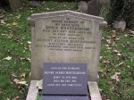 Burtenshaw family burial plot, Greenford Park Cemetery, London Borough of Ealing (photo Albertina McNeill)